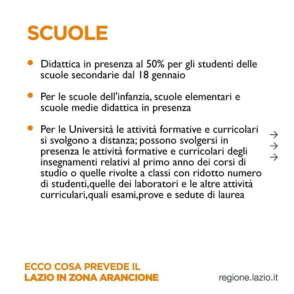 zona arancione le scuole