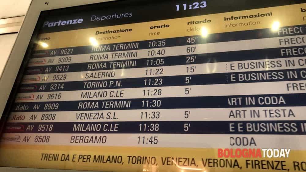 Ritardi treni stazione Bologna-2