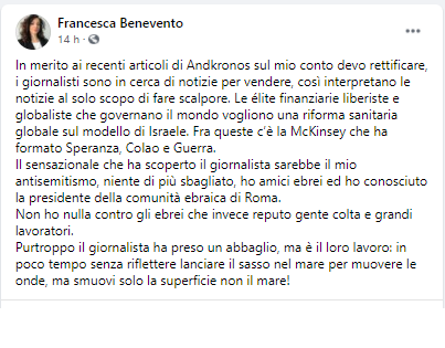 Francesca Benevento screenshot facebook McKinsey-2