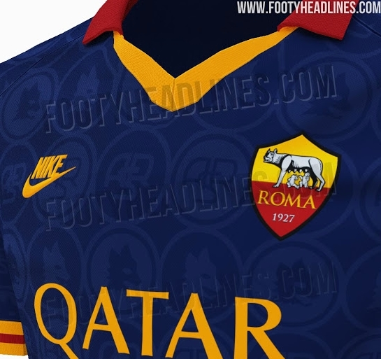 As Roma, la terza maglia sarà blu: torna lo stile anni '90 di Nike