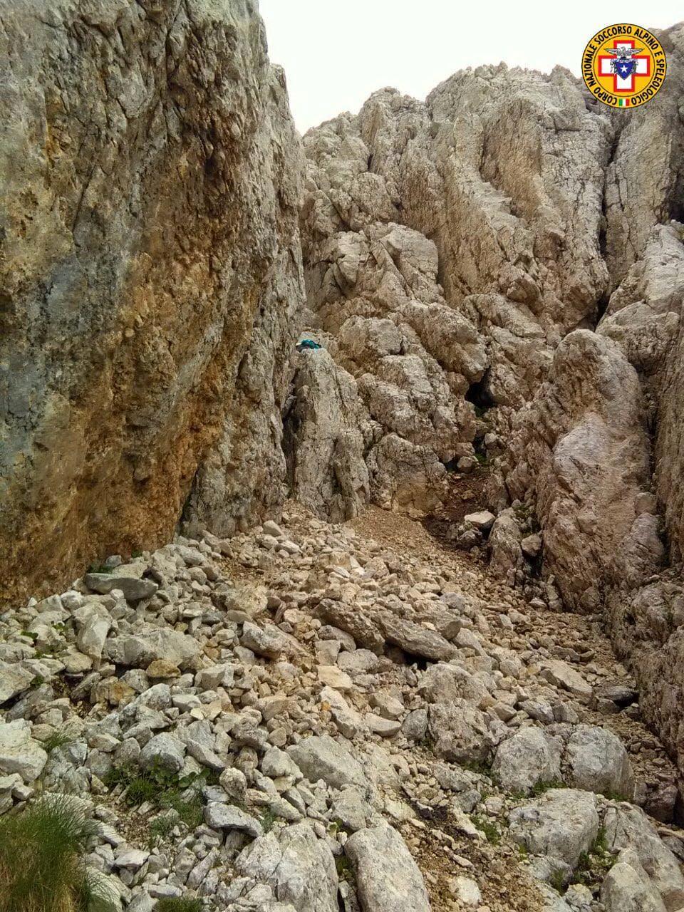 Escursionisti salvati Corno Piccolo Gran Sasso-2