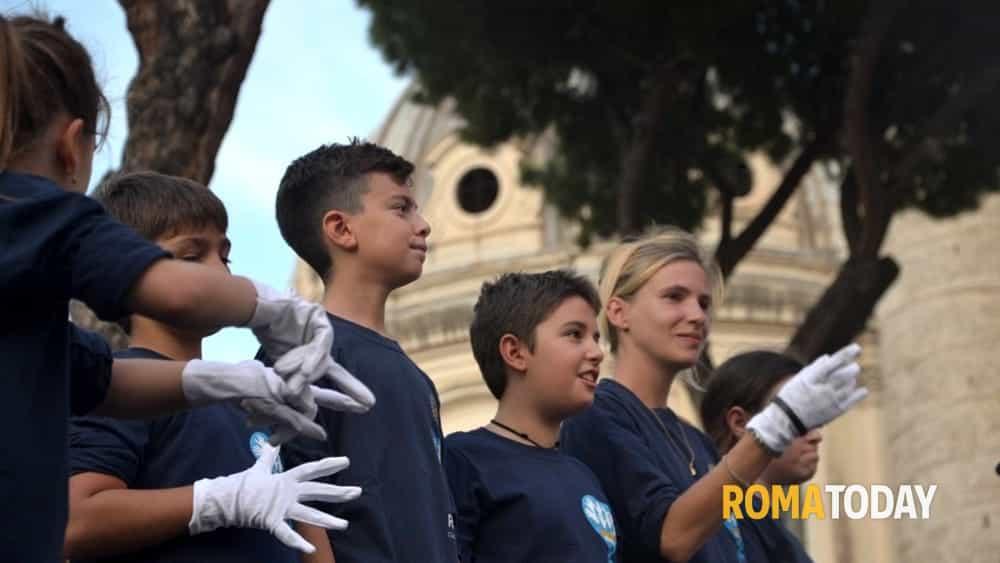 valeria vil e il coro mani bianche roma insieme per la giornata della sordità 2018-2