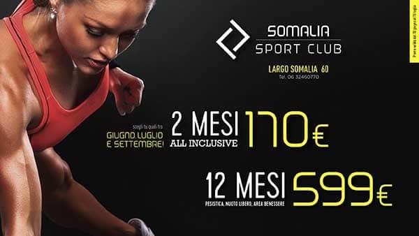 Vivi l'estate con Somalia Sport Club e allenati al TOP!