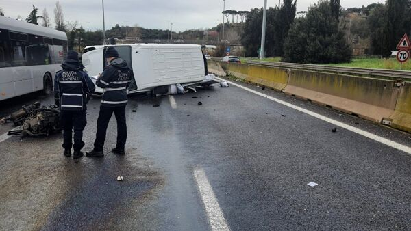 L'incidente su via Aurelia