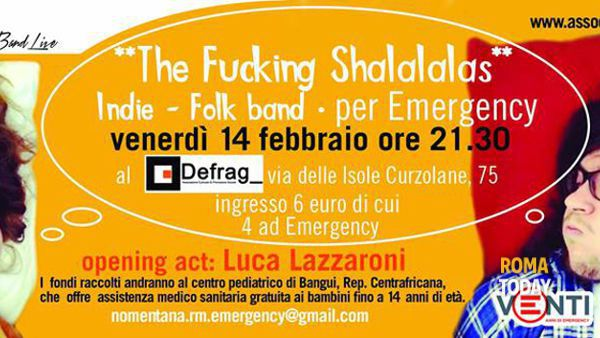The fucking shalalalas in concerto per Emergency