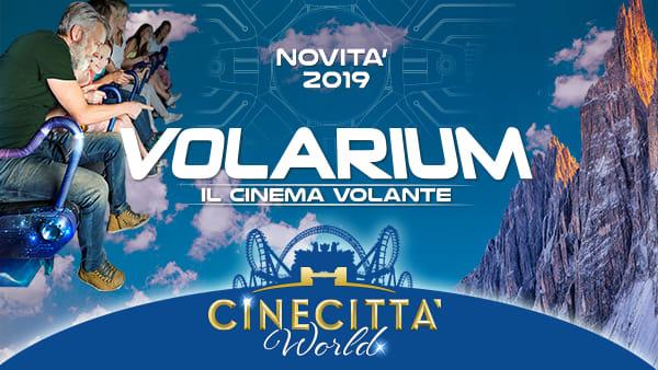 Il futuro irrompe a Cinecittà World per i 500 anni di Leonardo. Arriva Volarium - il cinema volante