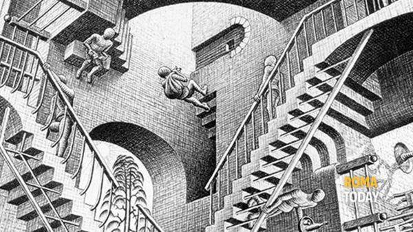 Escher al Chiostro del Bramante: visita guidata alla mostra
