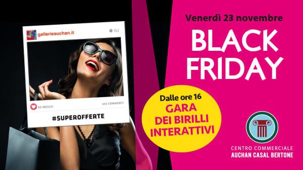 Black Friday al Centro Commerciale Auchan Casal Bertone