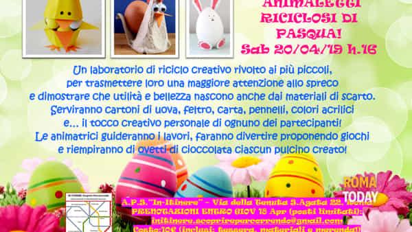 Animaletti riciclosi di Pasqua