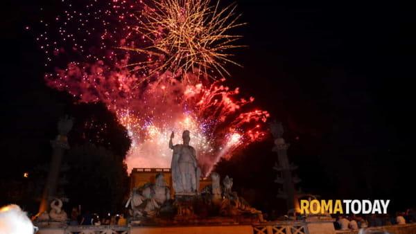 Girandola a Piazza del Popolo per la festa di San Pietro e Paolo