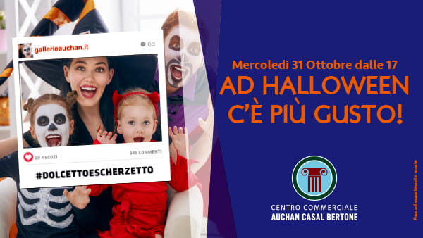 Halloween al Centro Commerciale Auchan Casal Bertone