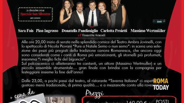 Capodanno 2015 all'Ambra Jovinelli con Nicola Piovani
