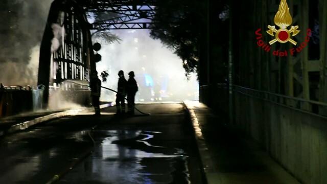 Incendio ponte di ferro   foto VVFF 2