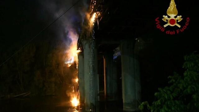 Incendio ponte di ferro   foto VVFF 4