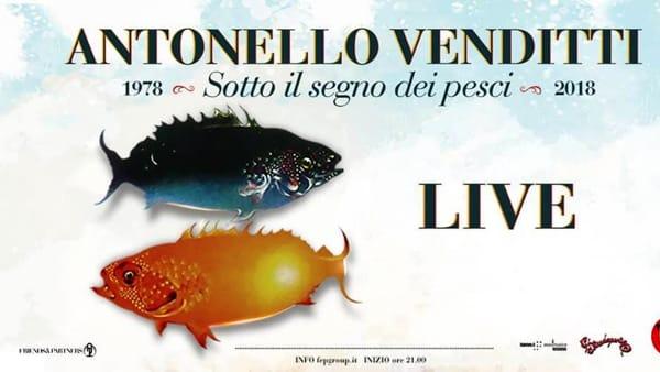 'Sotto il segno dei pesci', Venditti in concerto a Roma