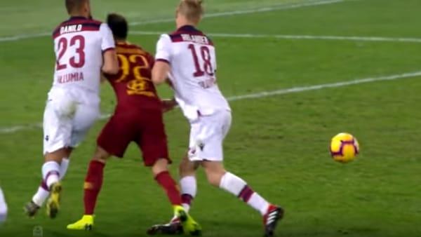VIDEO | Roma-Bologna 2-1: rigore di Kolarov e zampata di Fazio, gli highlights