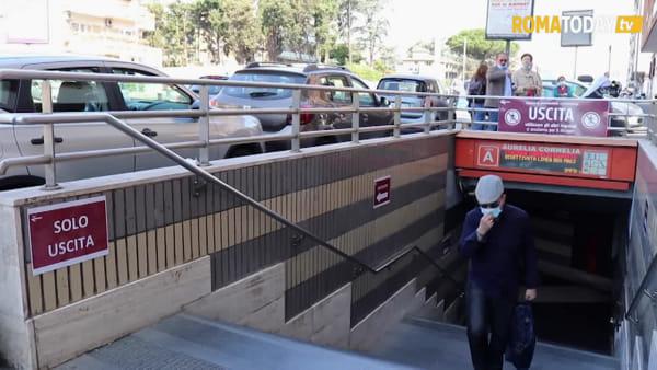 VIDEO | Metro Cornelia riapre dopo cinque mesi, ma si entra e si esce solo da due scale