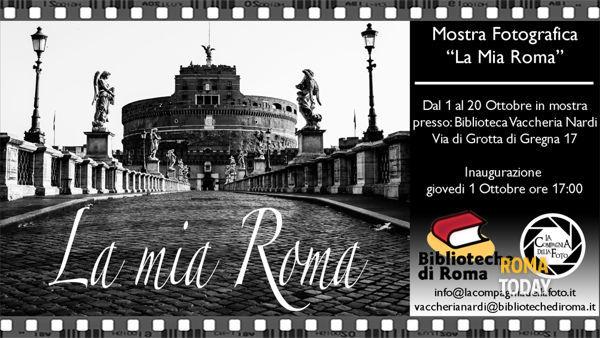 """Mostra fotografica """"La mia Roma"""" alla Biblioteca Vaccheria Nardi"""