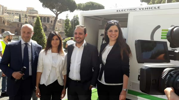 E-Gap a Roma, la ricarica elettrica on demand raggiunge la Capitale