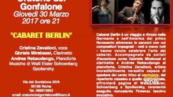 Cabaret Berlin - Oratorio del Gonfalone