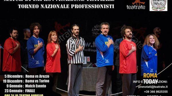 Roma vs Torino: match di improvvisazione teatrale all'Aurelio