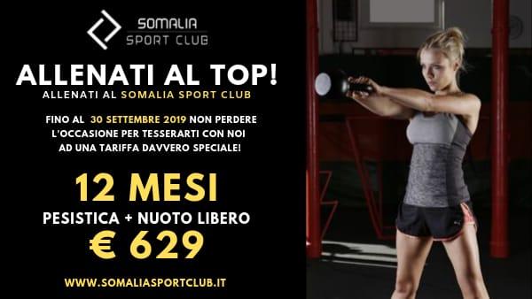 Allenati al top...allenati al Somalia Sport Club!