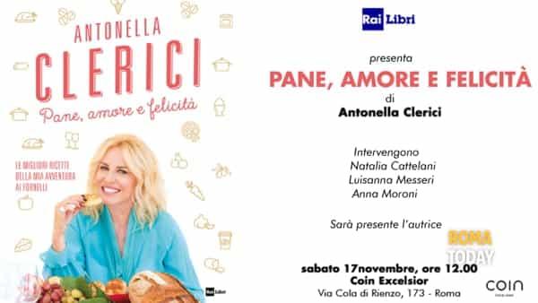 """Antonella Clerici presenta il suo nuovo libro """"Pane, Amore e Felicità"""" da Coin Excelsior"""