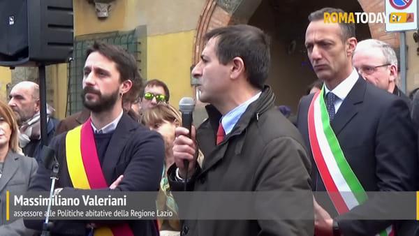 VIDEO | Al via i festeggiamenti per i cento anni di Garbatella: la cerimonia davanti alla prima pietra del quartiere