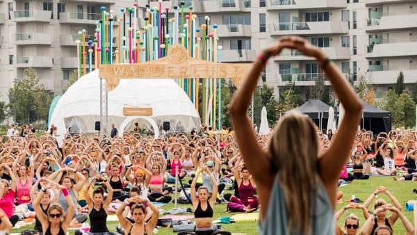 Wanderlust, l'evento mondiale di yoga, fitness, cibo salutare e benessere a Roma