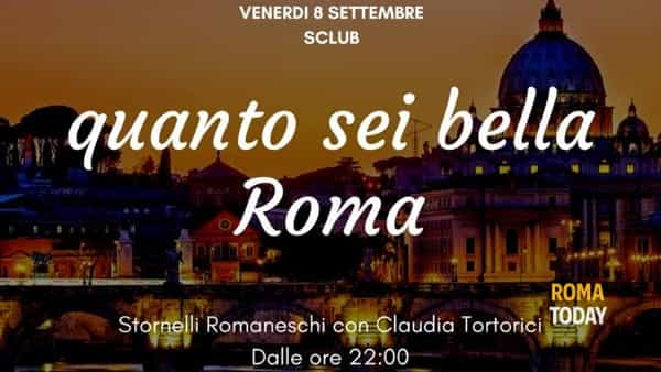 """""""Quanto sei bella Roma"""". Una serata per celebrare la Capitale all' S Club di Fregene"""