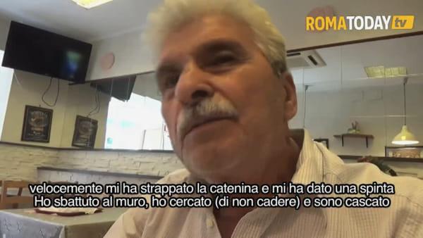 VIDEO | Gli strappano la catenina dal collo e lo buttano a terra, il racconto dell'anziano aggredito