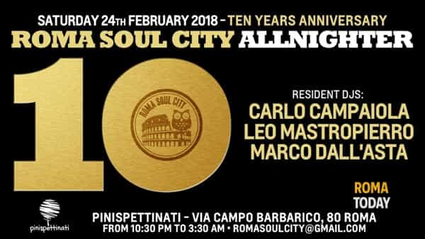 Roma soul city allnighter - ten years anniversary
