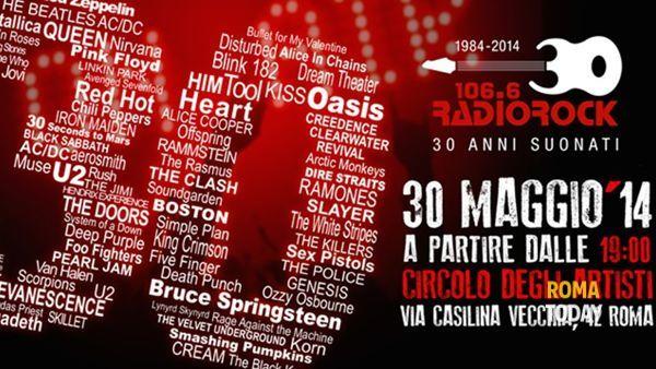 30 anni suonati: Radio Rock festeggia al Circolo degli Artisti