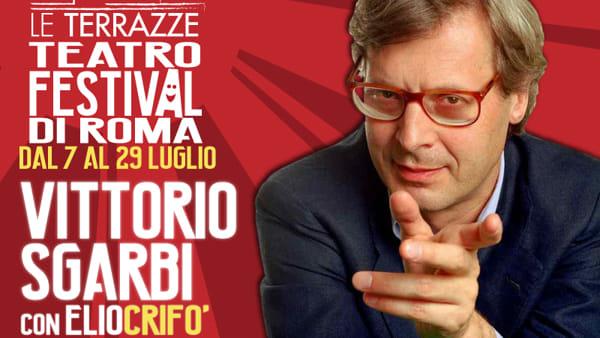 Vittorio Sgarbi con EsotericArte a Le Terrazze Teatro Festival