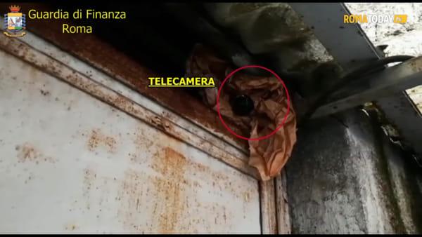 VIDEO | Il deposito di pneumatici usati protetto dalle telecamere è base dello spaccio