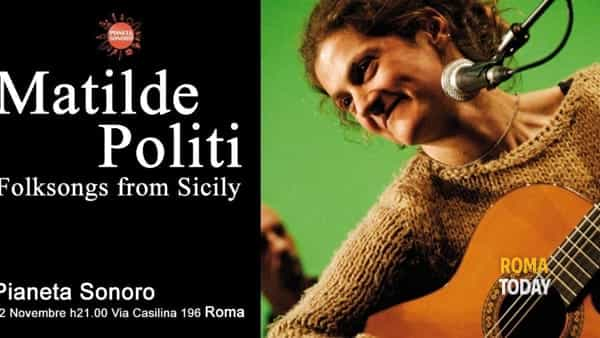 Folksongs from Sicily: Matilde Politi in concerto a Roma