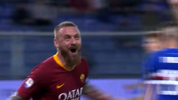 VIDEO | Sampdoria-Roma 0-1: l'urlo di De Rossi. Gol e Highlights