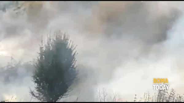 VIDEO | Incendio al parco: fiamme minacciano le abitazioni. Fumo sul Raccordo Anulare