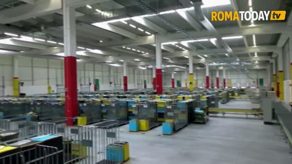 VIDEO | Ecco il nuovo centro Amazon di Roma: oltre cento posti di lavoro nella Tiburtina Valley