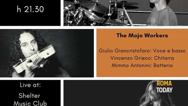 The Mojo Workers Blues trio live a Shelter Music Club