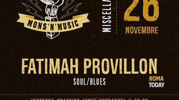 Mons'n'Music presenta Fatimah Provillon in concerto