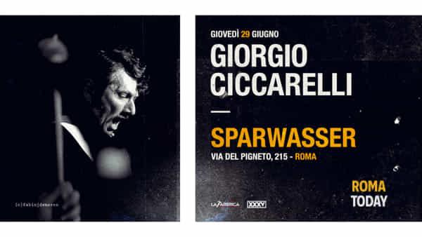 Giorgio Ciccarelli in concerto a Roma