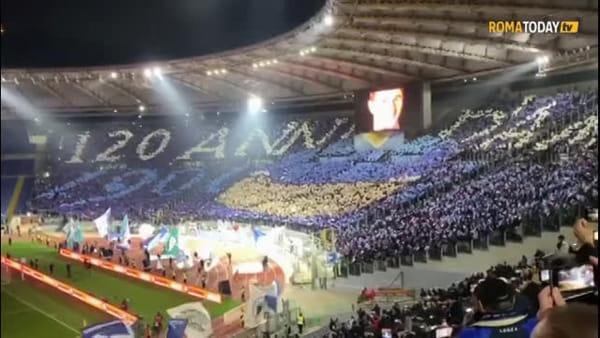 """Lazio, coreografia show all'Olimpico: """"120 anni d'amor"""""""