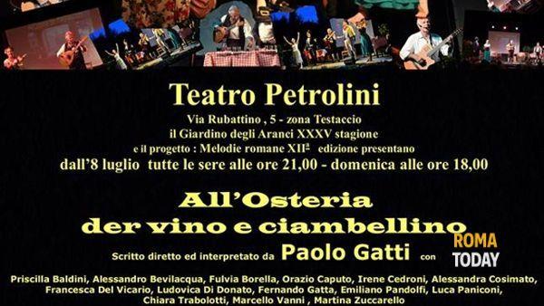 All'osteria der vino e ciambellino al Teatro Petrolini