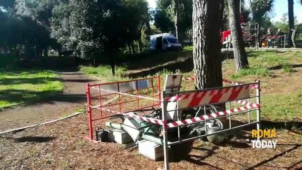 VIDEO | Via delle Palme, domenica di lavoro per far tornare la luce nel parco Cadmo Biavati