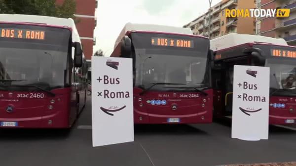VIDEO | Atac, ecco i nuovi bus a metano in circolazione a Roma