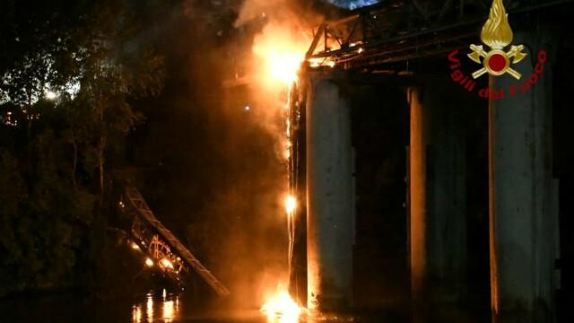 Incendio ponte di ferro   foto VVFF 1