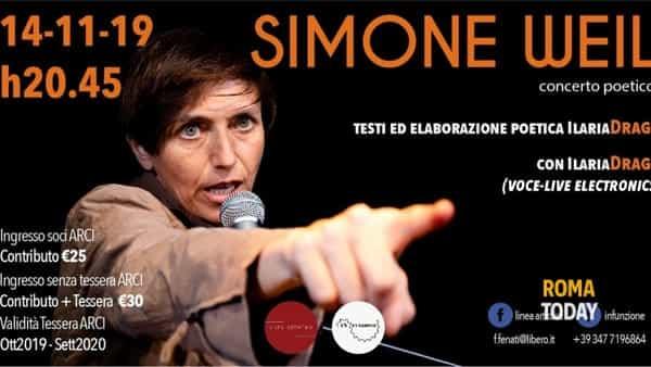 Simone Weil, concerto poetico di e con Ilaria Drago