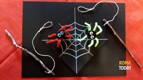 La pesca dei ragnetti, laboratorio di Halloween