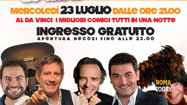 """Parco Commerciale Da Vinci: """"Humour d'Autore"""" con Enrico Montesano e Max Giusti"""